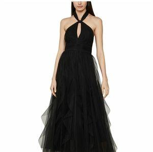 BCBGMAXAZRIA Tulle Halter-Neck Dress